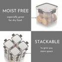 Magnus Modulock Plastic Transparent And BPA Free Container, 1480 ml
