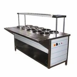 Stainless Steel Service Counter, For Restaurant