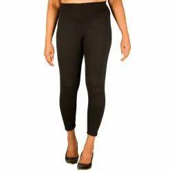 Rib Plain Leggings, Size: Free Size