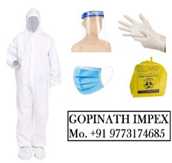 White Disposable Non Woven PPE Kit, For Hospital,Personal Protection