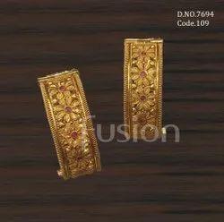 Fusion Arts Antique Gold Bangles