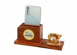 Indiawala Wooden Table Top Pen Holder, For Home, Size/Dimension: 8.5 X 3.5 X 3 Inch