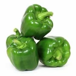 Green Capsicum A Grade Shimla Mirch, For Cooking, rajasthan, Packaging Size: 20 Kg