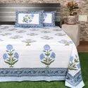 Hand Block Printed Cotton Sanganeri Bedsheet