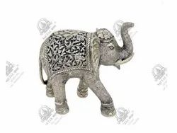 1280 gm Elephant Polished Silver Plated Artifacts