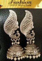 Silver Jumka Ladies Fancy Earnings