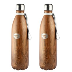 Golden Matt Cello Holly Stainless Steel Water Bottle, 1000mL, Screw Cap