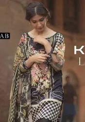 Keval Fab Kaira Luxury Lawn Vol-4 Collection Karachi Printed Dress Material Catalog