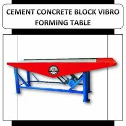 Cement Concrete Block Vibro Forming Table