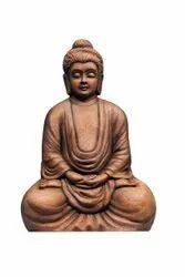 Multicolor Meditating Buddha Fiber Wall Mural