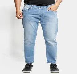 Slim Bottom Stylox Men Light Blue Ankle Fit Mid-Rise Jeans