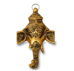 Gold Plated Ganesh Wall Hanging For Home Decoration & Corporate Gift