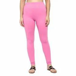 Pink Plain Cotton Legging