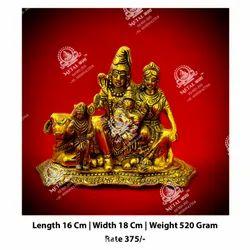 Shiv Parvati  Ganesh God Statue
