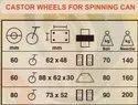 Castor Wheels For Sliver Cans - Carding M/C