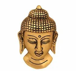 Gold Plated Buddha Face Hanging For Home Decor & Corporate Gift