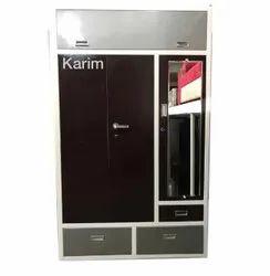 Brown MS Modular Three Door Mild Steel Almirah, For Home, Size: 9x5feet