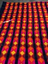 Georgette Embroidery Check Design Fabric, Check/stripes