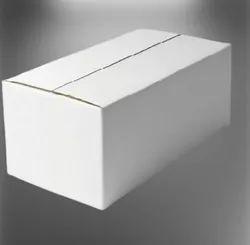 Plain 3 Ply White Duplex Corrugated Box