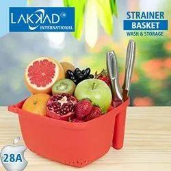 Mullticolor Plastic Strainer Wash And Storage Basket, For Multiuse