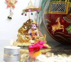 Nirmala Handicrafts Exporters Metal Singhasan for Laddu Gopal, Krishna Janmashtami Temple Decor