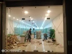 Elevation Glass Partition Work
