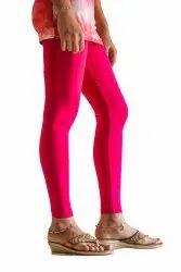 Cotton Plain Lyra Women Soft Skinny Leggings, Size: L XL XXL