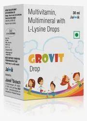 Multivitamin, Multimineral with L-Lysine Drops