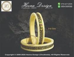 Round Ahmedabad Designer Acrylic Bangles
