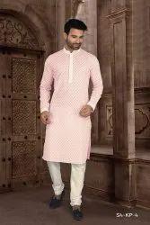Stylish Trendy Elegant Designer Men Kurta Pyjama