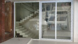 Partition Doors Pristine White 2 Shutter UPVC Sliding Door, For Office, Interior