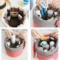 Bucket Barrel Shaped Cosmetic Makeup Bag