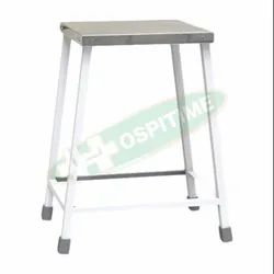 Rectangular Polished Hospitime SS Hospital Visitor Stool, Size: 3x1x1 Feet