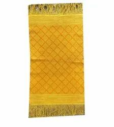 Yellow Handloom Cotton Carpet, Size: 3x1.5 Feet