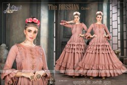7 Color Shahee Cotton Ank Enterprise Wedding Wear Designer Gown