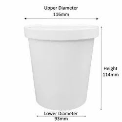 1000ml Standard Paper Container With Paper Lid