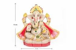 Clay Multicolor Sri Rudra Eco Friendly Decorative Ganesh Idol, Packaging Type: Box, Size: 6 Inches