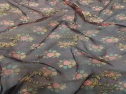 Embroidered Fabric With Digital Print