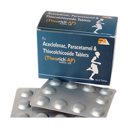 Aceclofenac Paracetamol And Thiocolchicoside Tablets