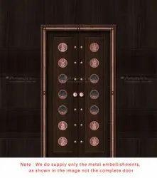 Copper Pooja Room Door Design