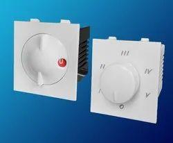 White 5 Step Modular Fan Regulator, Number Of Modules: 2
