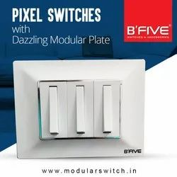 B'Five White 16 Amp. Switch 1 Way (Pixel) for Office