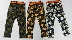 Cotton Casual Wear Kids Jogger Jeans, Handwash
