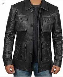 Four Pocket Men's Leather Jacket