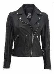 Leather Moto Jacket Women's