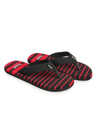 Pasted Eva Outset-0300-Redblack Slippers Flip Flops, Size: 6-10