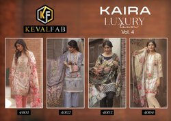 Keval Kaira Luxury 4 Karachi Cotton Dress Material Collection