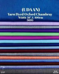 Udaan yarn dyed oxford chambray shirting fabric