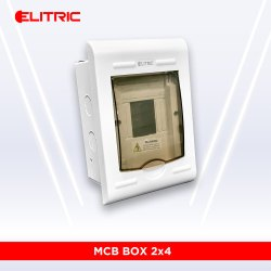 ABS Elitric 2x4 MCB Box, For Electric Fittings