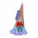 Selfie Ice- Cream Cone Statue With Seat